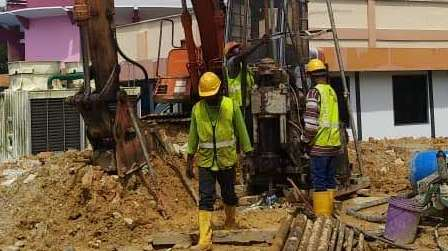 Piling Works for 7 Storey Med-cost Apartment (32 Units off Hill Railway Station)